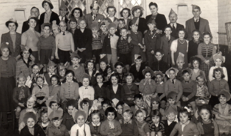 Arlesey St Peters Church christmas party approx 1954