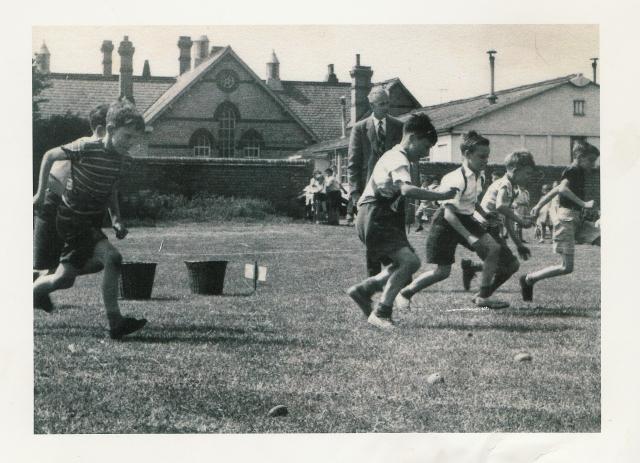 Arlesey Primary School potato race