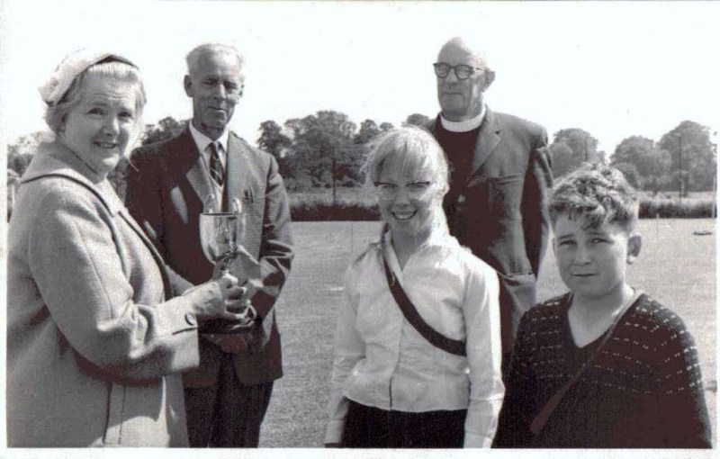 Arlesey Primary School headmaster Mr Appleby sportsday and rev Edgell