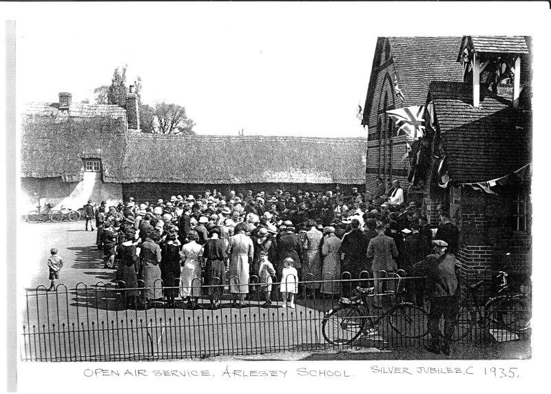 Open Air Service at Arlesey Primary School Rev Beavan