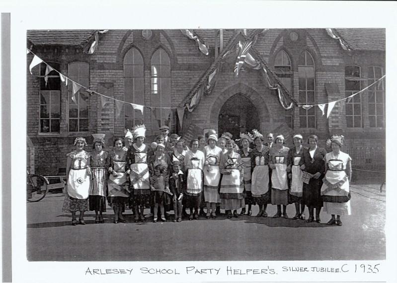 Arlesey Primary School silver jubilee helpers