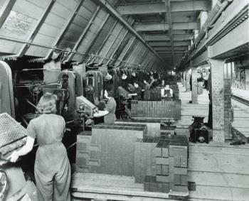 women at work London Brick production line
